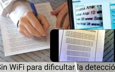 Cámara Lar Pinganillo para exámenes sin wifi