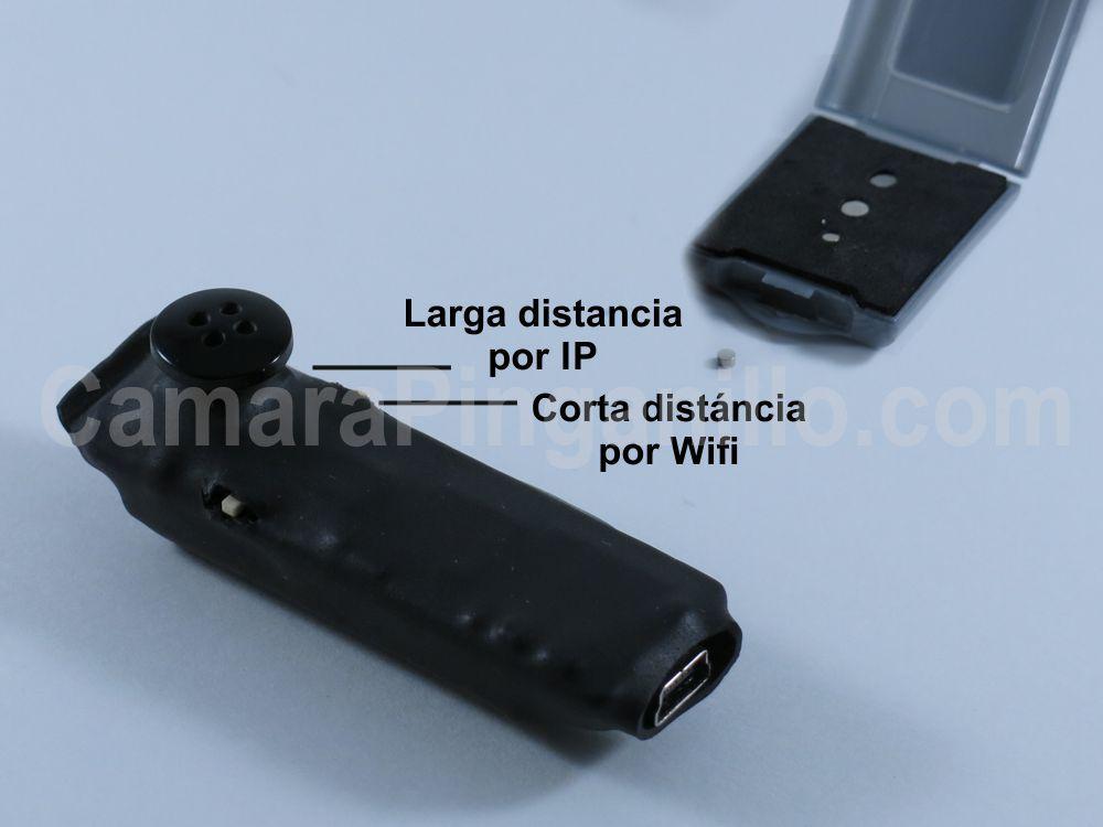 Pinganillo con Cámara Botón Wifi 3G 4G